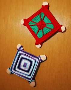 One of the beauties of being in the US is that it contains a variety of cultures. One way to teach our children respect and appreciation for these cultures is by learning from others' beliefs and traditions. In this activity, give your child some insight into another culture by helping create an ojo de Dios (eye of God), a representation of the yarn weaving done by the Huichol population of northwest Mexico