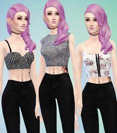 Sims Punk: Random tops pack • Sims 4 Downloads