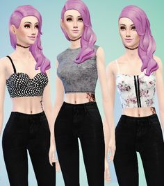 Sims Punk: Random tops pack • Sims 4 Downloads
