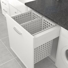 Tanova Deluxe Pull Out Laundry System 800mm Cabinet 2x65L (130L)        | Access Group NZ