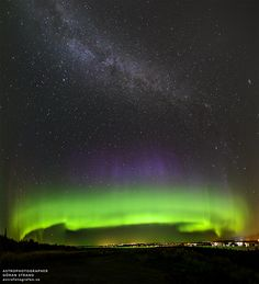 An Aurora Cupcake with a Milky Way Topping --- Sep. 9 --- Image Credit & Copyright: Göran Strand