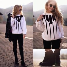 Endless Maze Sweater, Vagabond Booties, Ray Ban Sunglasses