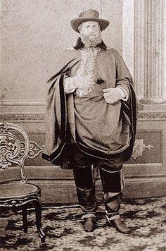 Foto do Imperador Dom Pedro II em trajes de campanha na Guerra do Paraguai 1865.