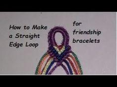 How to Make a Mini Straight Edge Loop for Friendship Bracelets - YouTube