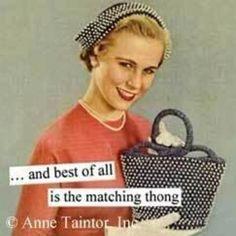 Matching thong. Ha!
