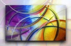 Uma única pintura original em tela medindo 70cm de altura x 120cm de comprimento. Materiais de qualidade profissional  foram utilizados na criação desta arte. A tela é envolvida de algodão livre de ácido, os lados são grampo livre e foram pintadas de forma que nenhum enquadramento decorativo seja necessário para exibi-la.