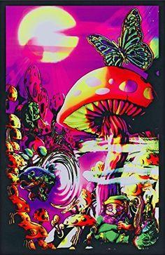 Magic Valley Trippy Mushrooms Art Poster Print - 24x36 College Blacklight Poster Print, 23x35, http://www.amazon.co.uk/dp/B001RNV5WQ/ref=cm_sw_r_pi_n_awdl_ucCMxbJY01KDN