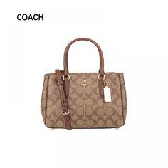 Authentic Original & Brand new Coach Signature Mini Surrey PVC Leather Satchel handbag Women's Bag Crossbody Bag F67027/F46282  Price: 242.00 & FREE Shipping  #hashtag1