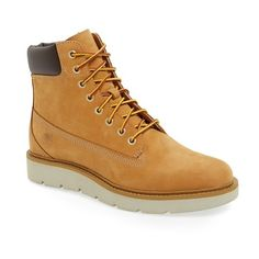 Women's Timberland 'Kenniston' Lace-Up Boot ($93) ❤ liked on Polyvore featuring shoes, boots and wheat nubuck leather