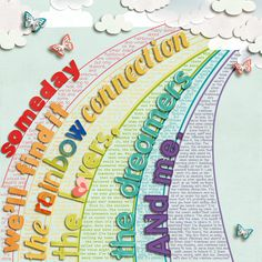 True Colors by Kristin Cronin-Barrow and Jady Day (background paper is two papers blended, heart, cloud, and butterflies) Paper Clips: Wavy ...