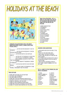 A collection of English ESL Holidays, Beginner worksheets for home learning, online practice, distance learning and English classes to teach about f. 3rd Grade Reading Comprehension Worksheets, Reading Worksheets, Teaching English Grammar, Grammar And Vocabulary, English Teachers, Writing Test, Writing Words, English Activities, Writing Activities
