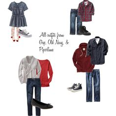 Fall Family Outfits by linzshea on Polyvore featuring Old Navy and Converse