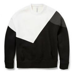 Found on OhLike: Neil Barrett Colour-Block Bonded-Jersey Sweatshirt
