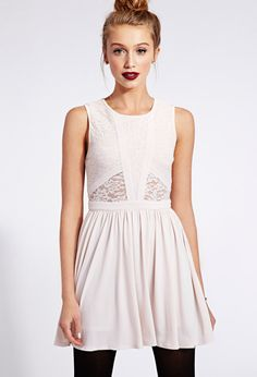 Must-Have Paneled Lace Dress | FOREVER21 All dressed up! #MustHave #Lace