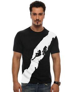 Rock Climbing Men T Shirts | Round Neck T-shirt | Cool T-shirt | Trendy T-shirt