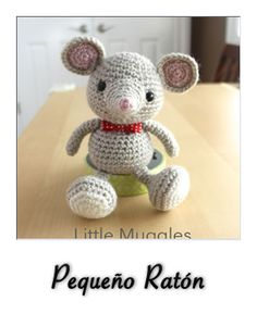 patron gratis amigurumi pequeño raton