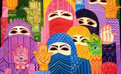 """""""Hands of Fatima"""" by Laila Shawa, included in the International Museum of Women's online exhibition."""