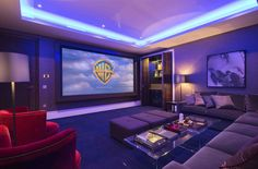 Movie room with giant pillows and movie projector! Description from pinterest.com. I searched for this on bing.com/images