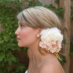 Peaches and Cream - Bridal or Everyday Head Piece by Mandizzle12, via Flickr