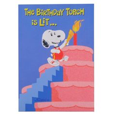 BIRTHDAY TORCH RS 5000 The Birthday Torch Is Lit Let Happy Begin Card Size 8 Inch X 55