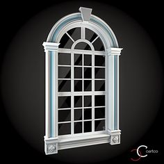 Window 072 by ThemeREX High quality polygonal model of window.max Max 2010 for separate models .max Max 2010 for the scene, w House Window Design, House Outside Design, Tv Wall Design, Front Door Design Wood, Door Gate Design, Modern Bungalow Exterior, Classic Window, Classic House Design, 3d Interior Design