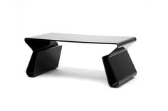 Acrylic Black Coffee Table with Magazine Rack | Wholesale Interiors