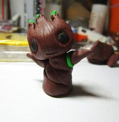 baby Groot Figure- polymer clay, hand sculpted on Etsy, $22.50