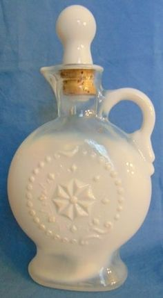 Vintage Collectible Jim Beam 1957 Opalescent Milk Glass Decanter Free SHIP | eBay