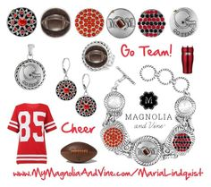 """Football Mom Envy with Magnolia & Vine"" by maria-magnolia-and-vine on Polyvore"