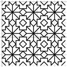 Also use for phulkari Blackwork Patterns, Blackwork Embroidery, Zentangle Patterns, Cross Stitch Embroidery, Embroidery Patterns, Quilt Patterns, Graph Paper Drawings, Graph Paper Art, Peyote Stitch Patterns