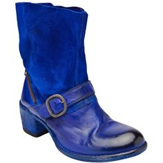OFFICINE CREATIVE Pull-on buckle boot ($640) ❤ liked on Polyvore