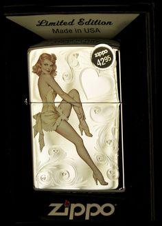 Zippo lighter - Esquire Pinup, March 1946, brand new - in box. (