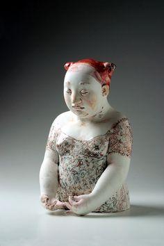 we swim with the fishes, , figurative ceramic sculpture