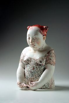 """""""Once Gundi Dietz has given her porcelain figures their basic cast and smooth surface, she works on them until an authentic woman emerges, radiating a distinctive personality forged out of a sensual body and a soul that is lost to the world."""" Dr. Claudia Lehner-Jobst"""
