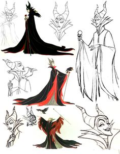 Disney - Maleficent - Della U. Arte Disney, Disney Magic, Disney Art, Disney Pixar, Sleeping Beauty Maleficent, Disney Maleficent, Disney Villains, Disney Sleeve, Cute Canvas