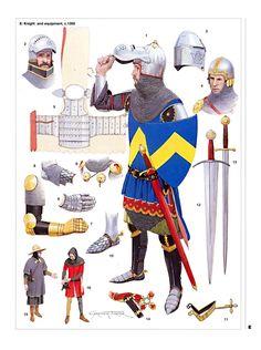 Armi e armatura di un cavaliere, XIV secolo