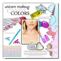 """""""Unicorn Beauty"""" by fashionlibra84 ❤ liked on Polyvore featuring beauty, WithChic, Rice, ASOS, Unicorn Lashes, FOSSIL, Urban Decay, Lime Crime and Forever 21"""