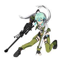 GGO Sinon Render 1 by TheGothamGuardian on DeviantArt Sword, Character Design, Game Art, Online Art, Anime Crossover, Art, Anime, Anime Characters, Sword Art