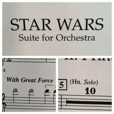 "Star Wars - Suite for Orchestra. ""With Great Force..."" ""Han Solo"""