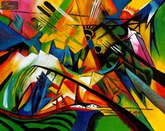 Franz Marc - The unfortunate land of Tyrol.  Among my all-time favorite paintings!