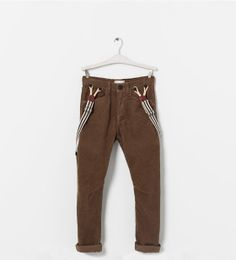 Image 1 of CORDUROY TROUSERS WITH SUSPENDERS from Zara