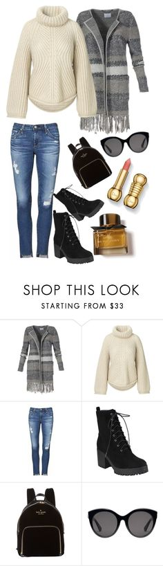 """Oversized sweater"" by heidihansen0505 on Polyvore featuring AG Adriano Goldschmied, Kate Spade, Gucci and Burberry"