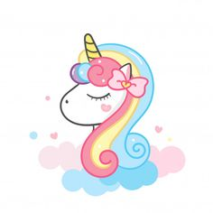 Unicorn head cute cartoon illustration P. Cute Animal Drawings Kawaii, Kawaii Drawings, Cute Drawings, Unicorn Head, Unicorn Art, Cartoon Unicorn, Unicorn Wallpaper Cute, Unicornios Wallpaper, Unicorn Pictures