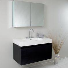 "Found it at AllModern - Senza Mezzo Modern 39"" Single Bathroom Vanity Set with Mirror"