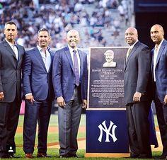 Bernie Williams Day ~ May 24, 2015 - With Andy Pettite, Jorge Posada, Mariano Rivera, Bernie Williams And Derek Jeter