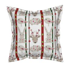Serama Throw Pillow featuring Flora woodland by floramoon_designs | Roostery…