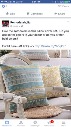 Throw Pillow Covers, Throw Pillows, Soft Colors, Bed, Decor, Cushions, Decoration, Soothing Colors, Decorating