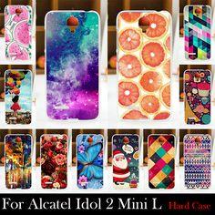 대한 alcatel one touch idol 2 mini l 6014 6014d 6014x 케이스 하드 플라스틱 핸드폰 마스크 case 보호 커버 주택 피부
