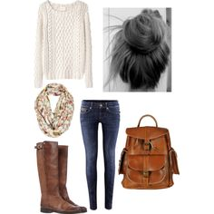 First day of highschool :) wear with glasses, possibly bow in hair and either flats, gray boots, or combat boots