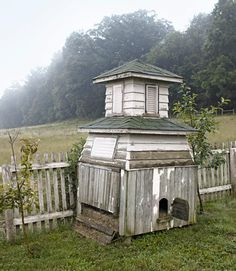 If this is a chicken coop, it's the most glam chicken coop I've ever seen. No matter what it is - I love it.